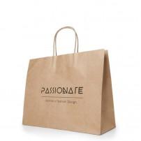 Bolsas de papel grandes personalizadas al por mayor