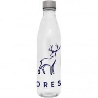 Botellas de cristal promocionales con tapón de acero inoxidable