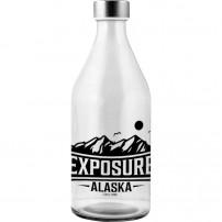 Botellas de cristal corporativas con tapón de acero inoxidable