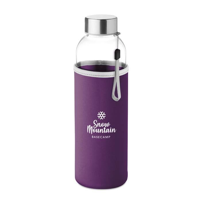 Bottiglie di vetro con tasca in neoprene 500 ml