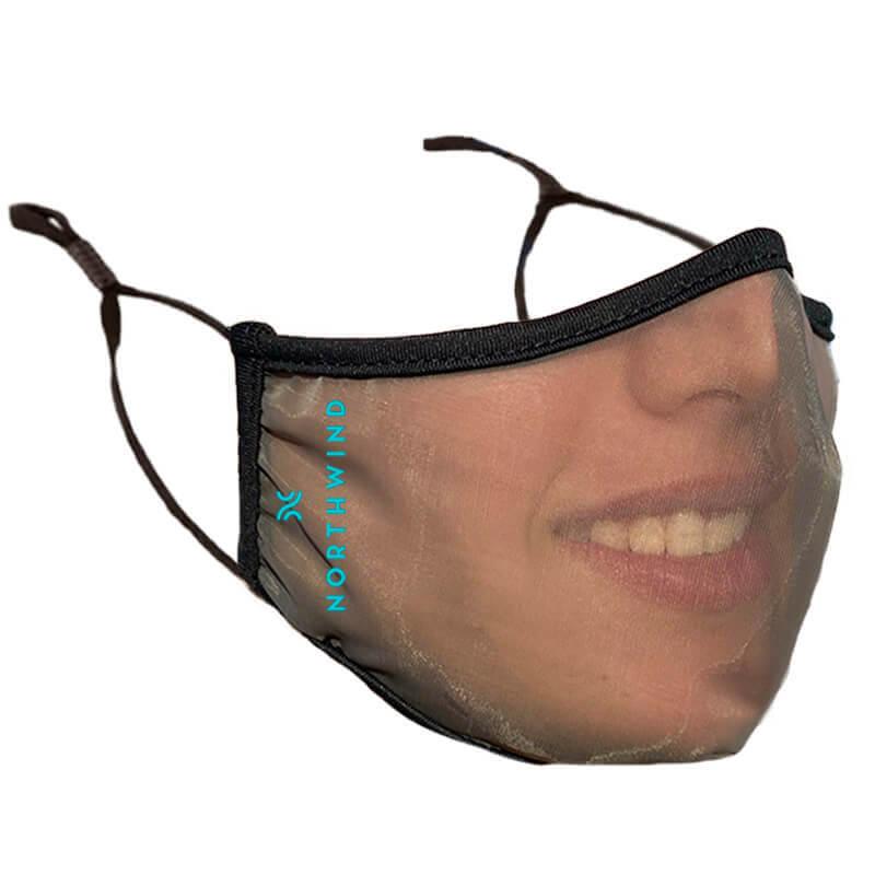 Mascherine personalizzate transparente